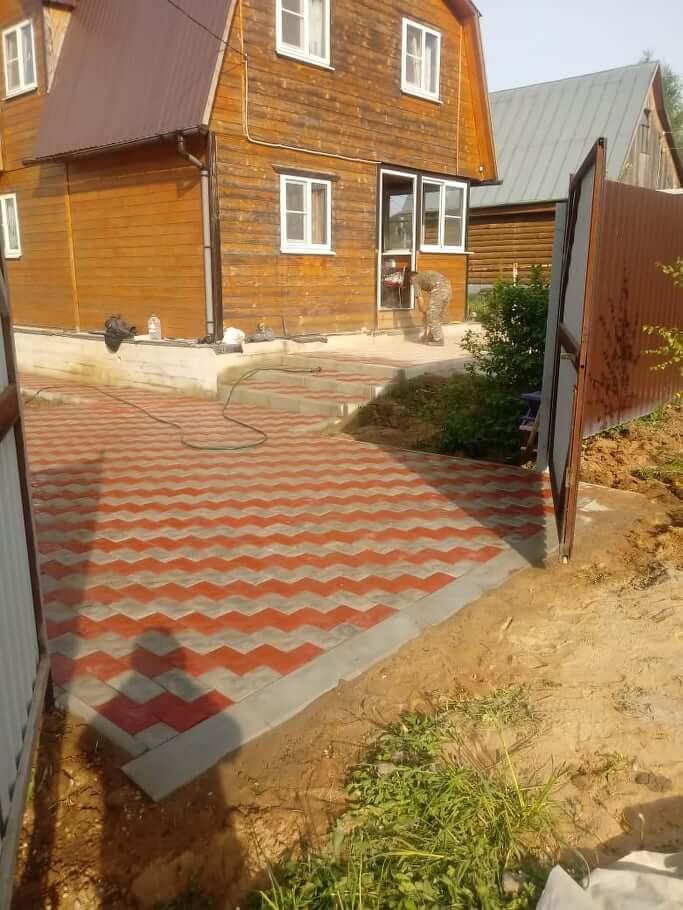 Укладка тротуарной плитки в Чеховском районе