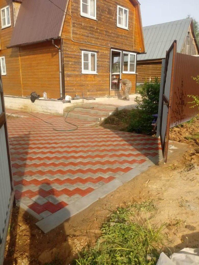 Укладка тротуарной плитки в Люберцах